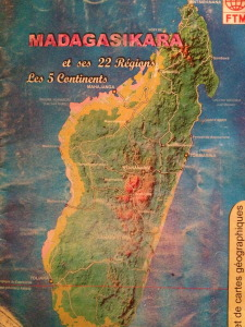 Effetti del disboscamento in Madagascar: confronto tra il 1980 e il 2010 ca.