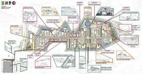 Expo 2015 mappa