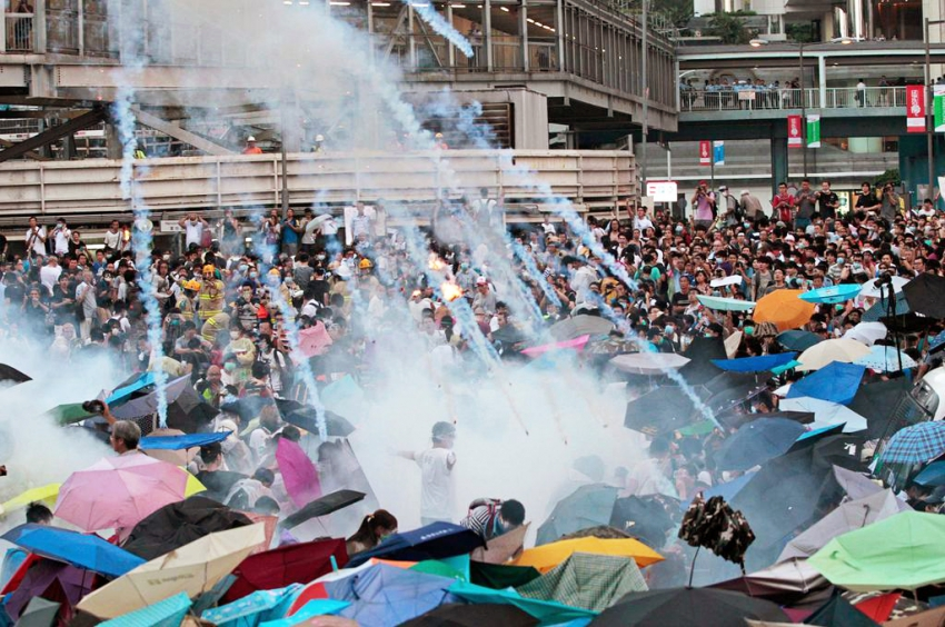 hong kong teargas - Occupy Central HK