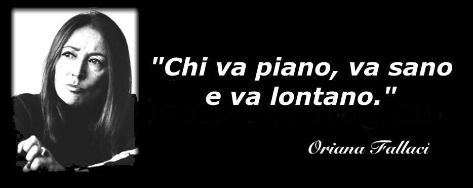 Immagine ironica di Oriana Fallaci