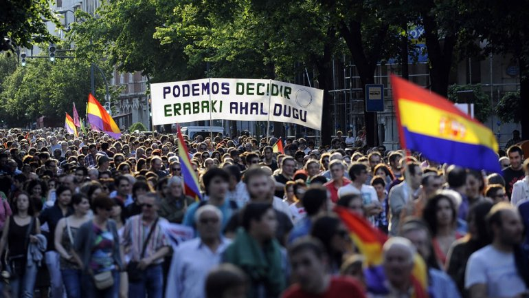 Una manifestación en Pais Vasco