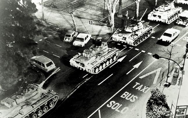 Los tanques en Valencia