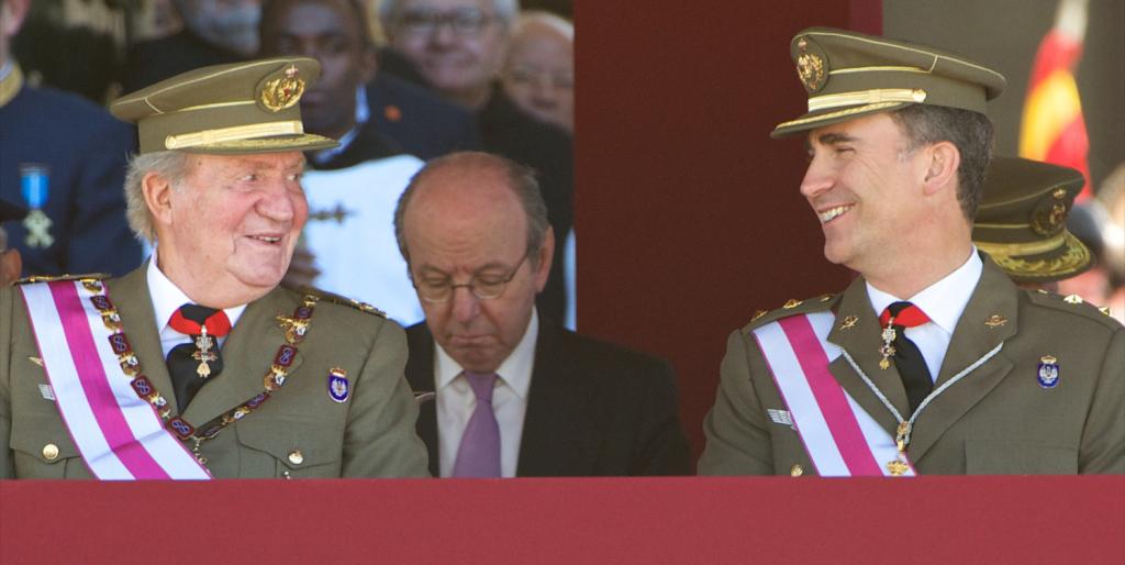 Rey Juan Carlos y Felipe