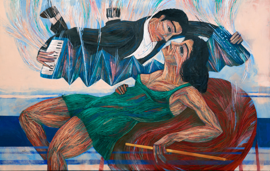 Love and Music (2015), Acrylic on Canvas